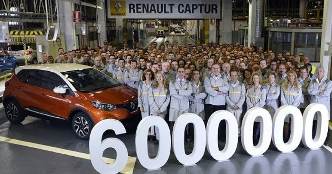Renault: 6 εκατ. μοντέλα... made in Spain