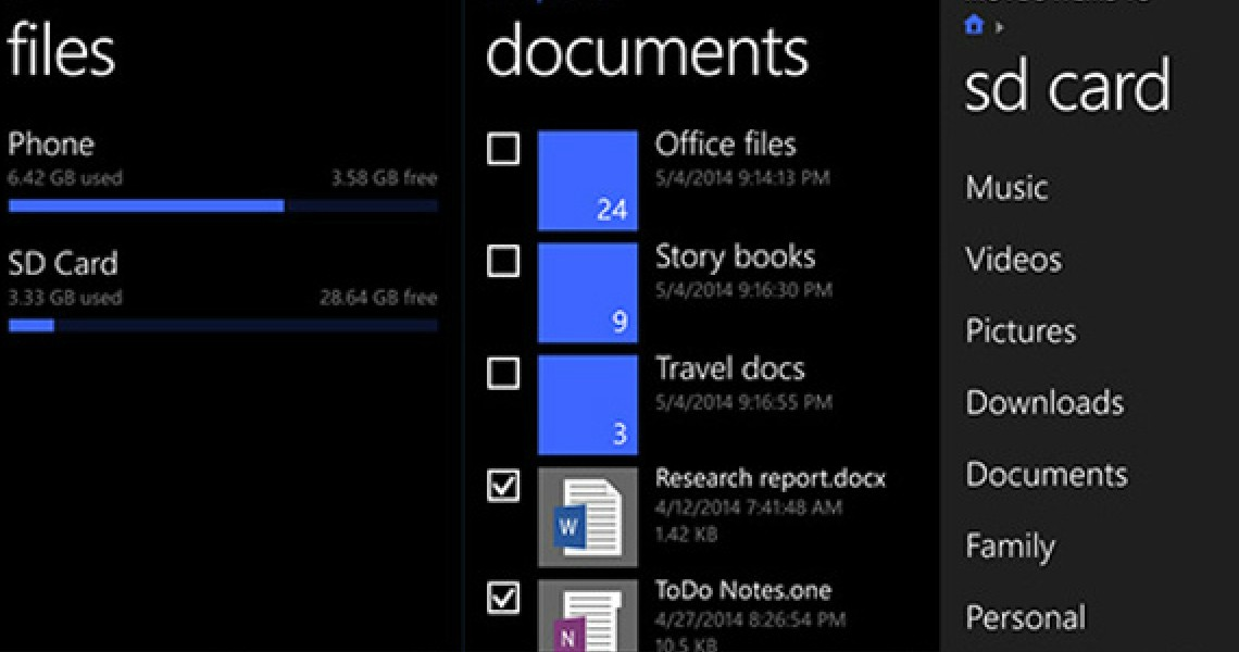 Files: Επίσημος file manager στα Windows Phone 8.1